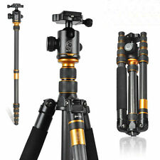 Q666C Portable Carbon fiber Tripod+Ball Head+ Monopod For Nikon DSLR Camera Hot