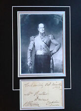 RONALD CRAUFURD FERGUSON - DISTINGUISHED ARMY GENERAL - SUPERB SIGNED DISPLAY
