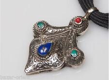 Attraktive Orient  Afghan silber lapis Türkis Anhänger silver  pendant  Nr-5
