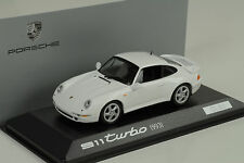 1995 Porsche 911 993 turbo (Set) weiss white  Minichamps 1:43 WAP