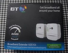 Barely Used BT Broadband Powerline 600 (Up to 600 Mbps) Ethernet Adapter Kit