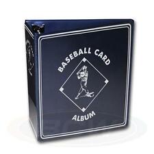"1 BCW 3"" Blue Baseball Card Storage D-Ring Album Binder & 50 Pages 9 Pocket"