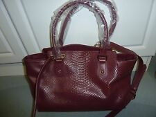 CUORE & PELLE CARRYALL TOTE- Red wine leather - new with tags
