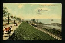 Buffalo, New York NY Vintage postcard Scene at Front Train Track