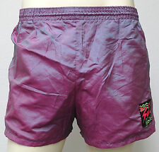 vtg Surf Style IRIDESCENT PINK GREEN Beach Shorts XL 90s crazy neon