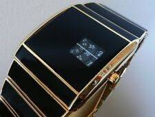 GOLD 70s 1970s stile vintage con JUMP LED DIGITALE LCD epoca Watch JUMP HOUR