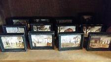 Set of 12 Billy Jacobs Mini Framed Box Pictures, Barn, House, American Life, New