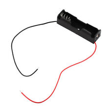 Plastic Battery Storage Case Box Holder for 1-AA Battery with 6'' Cable Lead G~