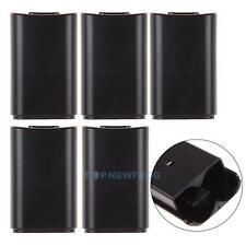 5x Black Battery Back Cover Case Pack for Microsoft Xbox 360 Wireless Contr TN2F