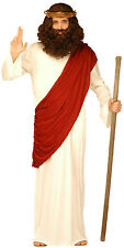 Jesus God Prophet Christmas Mens Fancy Dress Costume with Crown of Thorns Medium
