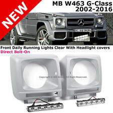 MB W463 99-14 G-Class Facelifted LED HeadLight Daytime Running Lamp Cover Clear