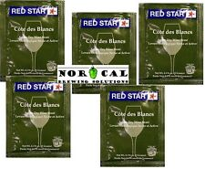 Red Star COTE DES BLANCS Epernay II Mead Cider Fruit Apple WINE DRY YEAST 5 Pack