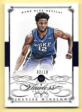 2015 Treasures Multisport Flawless Justise Winslow Authentic Sapphire #2/10 DUKE