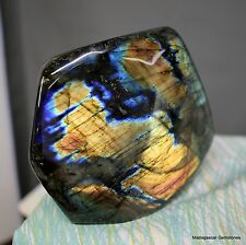 "4.95"" Nice Blue Full Flash Labradorite Freeform Stone, Lbt402"