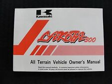 KAWASAKI BAYOU LAKOTA 300 ALL TERRAIN VEHICLE VEHICLE OWNER OPERATOR MANUAL