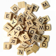 200 SCRABBLE TILES *NEW Wood Scrabble Letters* Replacements, Crafts, Jewelry