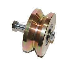 """Double Bearing 4"""" V Groove Wheel for Sliding Gate 3000 lbs Roller Slide + Screw"""