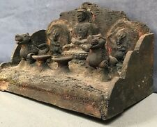 ANTIQUE / VINTAGE INDIAN HAND-CARVED, SACRED BUDDHIST SHRINE. KATHMANDU, NEPAL.
