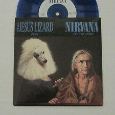 "JESUS LIZARD / NIRVANA - Puss / Oh The Guilt 7"" EP 1993 EU ORIG Blue Vinyl LP"