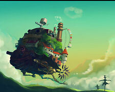 Howl Moving Castle Poster S Ghibli Studio Wall Art Decoration 16x20 Inches