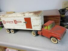 Vintage STRUCTO Western Auto Tractor Trailer Truck : all original : FREE SHIP'G