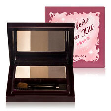 ETUDE HOUSE Perfect Eyebrow Kit 6g [Dual color+Highlighter palette] Korean Cosme