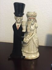 Yankee Candle Boney Bunch Bride & Groom Couple Taper Candle Holder 2014 *RARE*