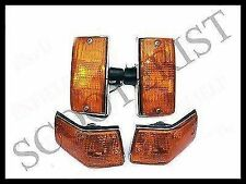 Vespa Front Rear Indicator Blinkers Black Amber PX P PE Lusso MY LML Star Stella
