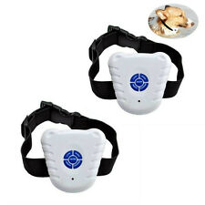 2x Small Ultrasonic Anti Bark No Barking Pet Dog Training Shock Control Collar