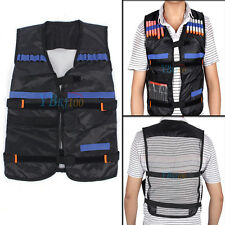 Adjustable Tactical Vest Jacket for Gun Accessories 12 Darts for Nerf Guns Black
