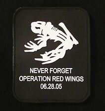 DEVGRU NAVY SEAL FROG NEVER FORGET OPERATION RED WINGS 3D PVC GLOW VELCRO® PATCH