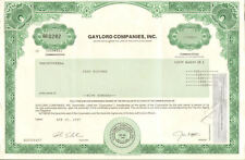 Gaylord Companies stock certificate