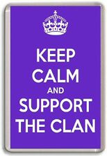 KEEP CALM AND SUPPORT THE CLAN, BRAEHEAD CLAN ICE HOCKY Fridge Magnet