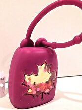 BATH & BODY WORKS GLITTER MAPLE LEAF PURPLE POCKETBAC SANITIZER HOLDER SLEEVE
