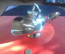 "Lovely large vintage silver plate ""coal scuttle"" sugar bowl & scoop"