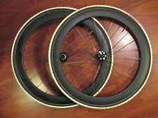 50MM CARBON TUBULARS DISC 11 SPEED CYCLOCROSS WHEEL SET CHALLANGE GRIFO 32 TIRES