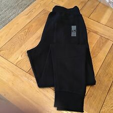 Men's BLACK DRUNKNMUNKY  jog/casual 'classic long' logo pants, small,