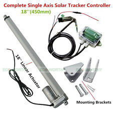 Solar Tracker Track Single Axis Complete Kit 18'' linear actuator &controller