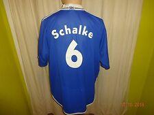 FC Schalke 04 ADIDAS maestri del cuore maglia di casa 2000/01 + N. 6 Taglia XL