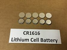 Set of 10: New Lithium CR1616 3V Keyless Entry Remote Coin Battery FREE TRACKING