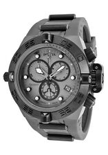 New Invicta 17210 Mens Swiss Subaqua shark Titanium Chronograph Gray Strap Watch