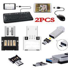 2pc Micro USB Typ B mini OTG Adapter Stecker auf USB Buchse Typ A 2.0 Host Stick