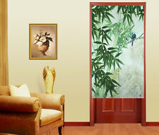 Noren Door Decoration Hanging Way Curtain With Bamboo And Sing Birds D-1336