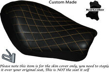 DIAMOND STITCH BEIGE CUSTOM FOR HARLEY SPORTSTER LOW IRON 883 SOLO SEAT COVER