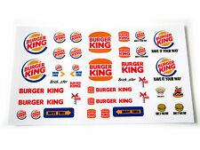 STICKERS for CUSTOM LEGO Burger King BUILDS, Toys, Etc ( 3438 McDonald size)