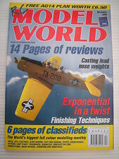 RC Model World - Radio Controlled Aircraft - Dec 2000 Complete with Unused Plan