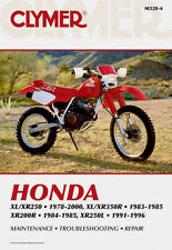 Clymer Repair Service Shop Manual Vintage Honda XR200R/250/350 XL250S/R 350/R