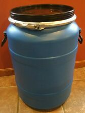 18 Gallon Plastic Food Grade Storage Barrel  Only Used Once