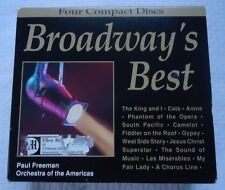 Broadway's Best by Various Artists (CD, Mar-1996, Intersound) 4 CD DISC BOX SET
