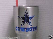 Dallas Cowboys Chrome Decal Sticker, Yeti,Tumbler,Rambler,Beer Mug,Car,Truck